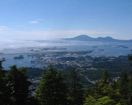 View of Sitka from Mt. Verstovia